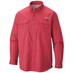 Columbia PFG Blood and Guts III Long Sleeve Woven Mens Shirt, Sunset Red, 256