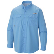 Columbia PFG Blood and Guts III Long Sleeve Woven Mens Shirt, White Cap, medium