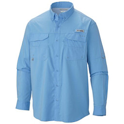 Columbia PFG Blood and Guts III Long Sleeve Woven Mens Shirt, White Cap, 256
