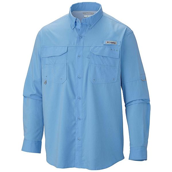 Columbia PFG Blood and Guts III Long Sleeve Woven Mens Shirt, White Cap, 600