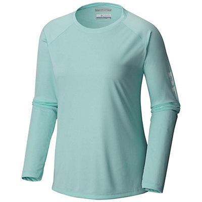 Columbia PFG Tidal Tee II Long Sleeve Womens Shirt, Blueglass-White, viewer