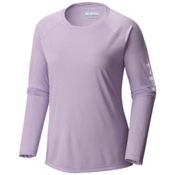 Columbia PFG Tidal Tee II Long Sleeve Womens Shirt, Phantom Purple-White, medium