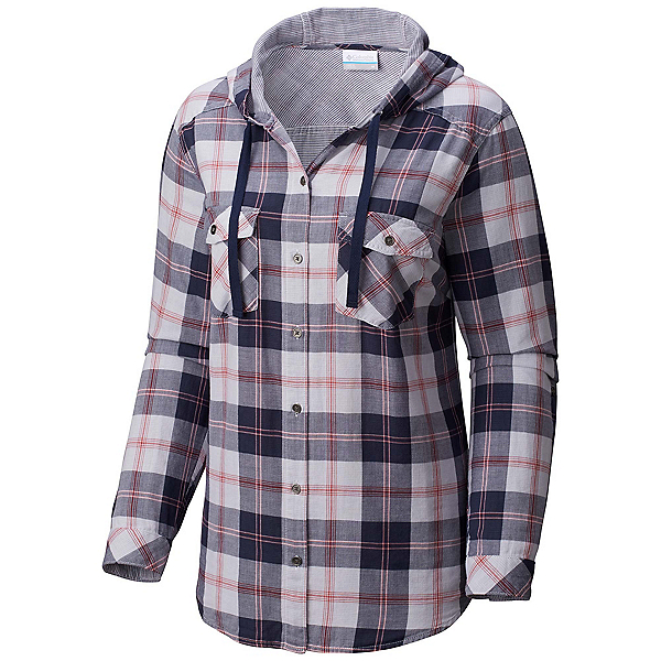 Columbia Times Two Womens Hoodie, Nocturnal Plaid, 600