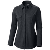 Columbia Rocky Ridge Long Sleeve Womens Shirt, Black, medium