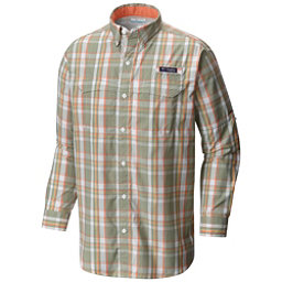 Columbia PFG Super Low Drag Long Sleeve Mens Shirt, Safari Multi Plaid, 256