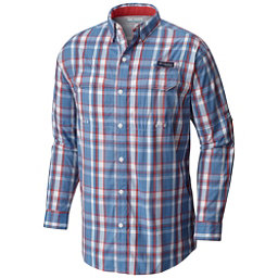Columbia PFG Super Low Drag Long Sleeve Mens Shirt, Skyler Multi Plaid, 256