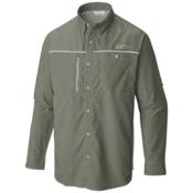 Columbia PFG Solar Drag Long Sleeve Mens Shirt, Cypress-Cool Grey, medium