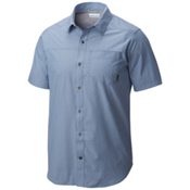 Columbia Pilsner Peak Short Sleeve Mens Shirt, Steel Dobby, medium
