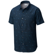 Columbia Pilsner Peak Short Sleeve Mens Shirt, Zinc Compass Print, medium