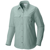 Columbia Pilsner Peak Long Sleeve Womens Shirt, Dusty Green Dobby, medium