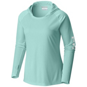 Columbia PFG Tidal Tee Womens Hoodie, Blueglass-White, medium