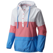 Columbia PFG Harborside Windbreaker Womens Jacket, Lollipop-White-Harbor Blue, medium