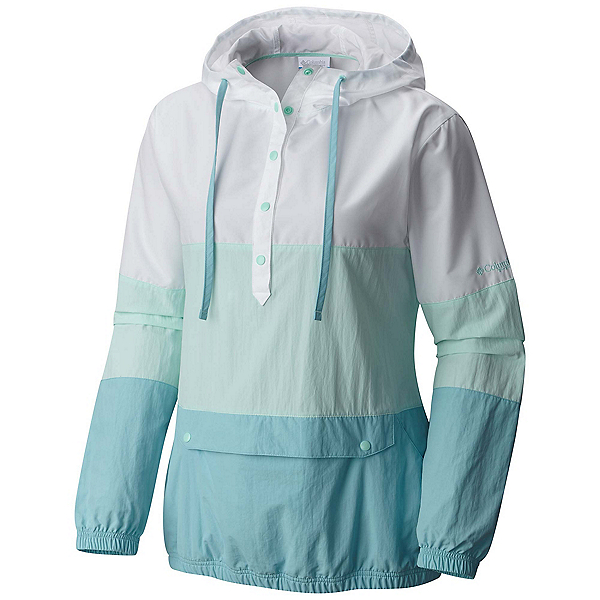Columbia PFG Harborside Windbreaker Womens Jacket, Blueglass-White-Iceberg, 600