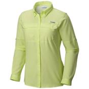 Columbia PFG Lo Drag Long Sleeve Womens Shirt, Spring Yellow, medium