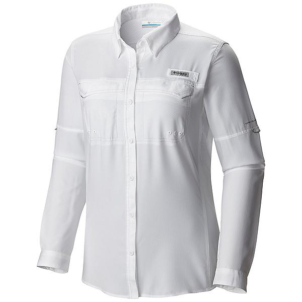 Columbia PFG Lo Drag Long Sleeve Womens Shirt, White, 600