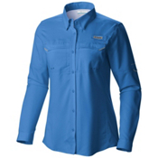 Columbia PFG Lo Drag Long Sleeve Womens Shirt, Harbor Blue, medium