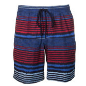 Columbia Lakeside Leisure Mens Hybrid Shorts, Stormy Blue Stripe, medium