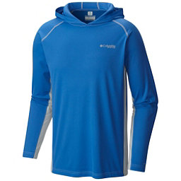 Columbia PFG Cast Away Zero Mens Hoodie, Vivid Blue-Cool Grey, 256