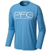 Columbia PFG Terminal Tackle Hooks Mens Shirt, Yacht-White, medium