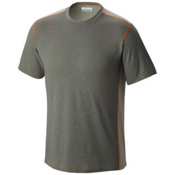 Columbia Silver Ridge Short Sleeve Mens T-Shirt, Cypress Heather-Safari-Valenci, medium
