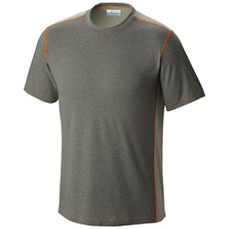 Columbia Silver Ridge Short Sleeve Mens T-Shirt, Cypress Heather-Safari-Valenci, 256