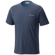 Columbia Silver Ridge Short Sleeve Mens T-Shirt, Zinc Heather-Steel-British Tan, medium