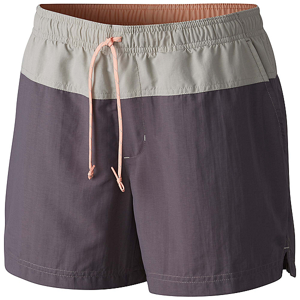 Columbia Sandy River Womens Hybrid Shorts, Pulse-Flint Grey-Light Coral, 600