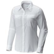 Columbia Silver Ridge Lite Long Sleeve Womens Shirt, White, medium