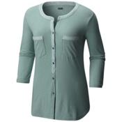 Columbia Vista Hills Henley Womens Shirt, Dusty Green, medium