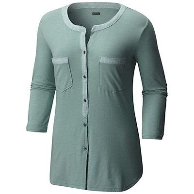 Columbia Vista Hills Henley Womens Shirt, Dusty Green, viewer