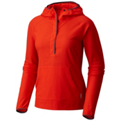 Mountain Hardwear MHW AC Long Sleeve Womens Hoodie, Fiery Red, medium