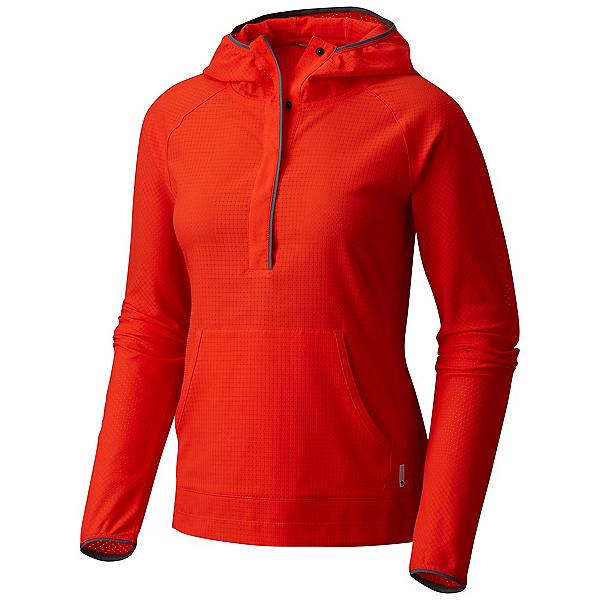 Mountain Hardwear MHW AC Long Sleeve Womens Hoodie, Fiery Red, 600