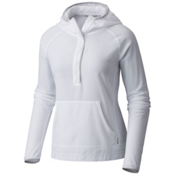 Mountain Hardwear MHW AC Long Sleeve Womens Hoodie, White, medium