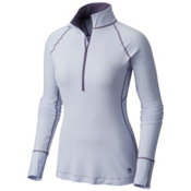 Mountain Hardwear Butterlicious Long Sleeve Half Zip Womens Shirt, Atmosfear, medium