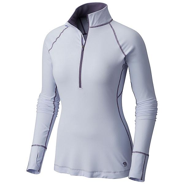 Mountain Hardwear Butterlicious Long Sleeve Half Zip Womens Shirt, Atmosfear, 600