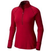 Mountain Hardwear Butterlicious Long Sleeve Half Zip Womens Shirt, Cranstand, medium