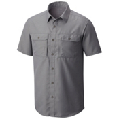 Mountain Hardwear Canyon Short Sleeve Mens Shirt, Manta Grey, medium