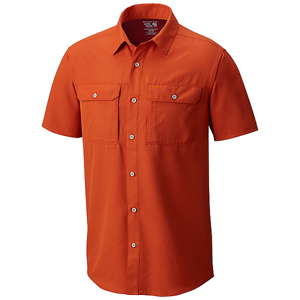Mountain Hardwear Canyon Short Sleeve Mens Shirt, Bonfire, 600