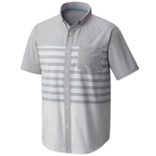 Mountain Hardwear Axton AC Short Sleeve Mens Shirt, Manta Grey, medium