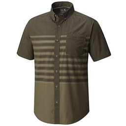 Mountain Hardwear Axton AC Short Sleeve Mens Shirt, Peatmoss, 256
