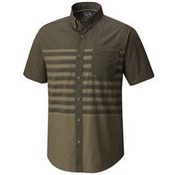 Mountain Hardwear Axton AC Short Sleeve Mens Shirt, Peatmoss, 256