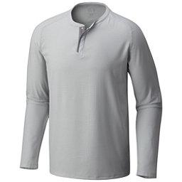 Mountain Hardwear MHW AC Long Sleeve Henley Mens Shirt, Grey Ice, 256