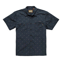 Howler Brothers Aransas Mens Shirt, Dark Blue-Gold, 256