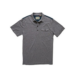 Howler Brothers Ranchero Polo Mens Shirt, Atlantic Heather-Navy-Orange Y, 256