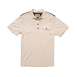 Howler Brothers Ranchero Polo Mens Shirt, Limestone-Brown-Gold Yoke, 256