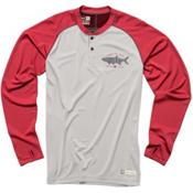 Howler Brothers Loggerhead Mens Shirt, Crimson-Light Grey, medium