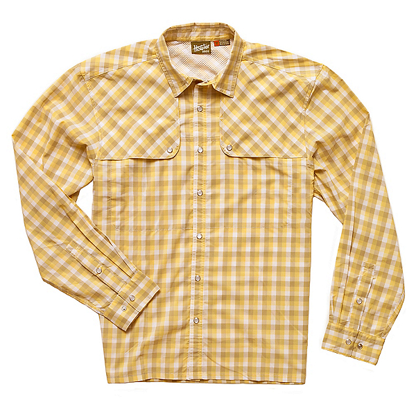 Howler Brothers Pescador Mens Shirt, Lemon Drop, 600
