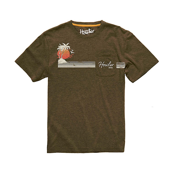 Howler Brothers Classic Pocket Mens T-Shirt, Cocoa Heather, 600