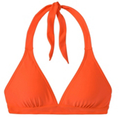 Prana Lahari Halter Bathing Suit Top, Electric Orange, medium