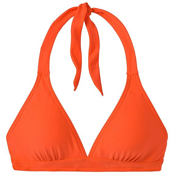 Prana Lahari Halter Bathing Suit Top, Electric Orange, 600